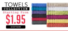 Order here: http://www.beddingsquare.com.au/towels-c.html