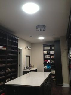 Wish I had this daylight closet!Bring in the sunlight in your walk-in closet without worrying about the heat. Take a look at how Solatube works: www.solatube.com #closets #homedecor #sunlight