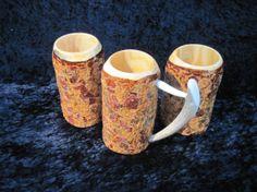 Wooden Beer Mug, Beer Stein, Antlers, Handle, Mugs, Unique Jewelry, Tableware, Handmade Gifts, Vintage