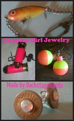 DIY Jewelry bullet earrings