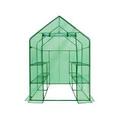 Ogrow Deluxe 8-Shelf Walk-In Portable Lawn & Garden Greenhouse, Multicolor