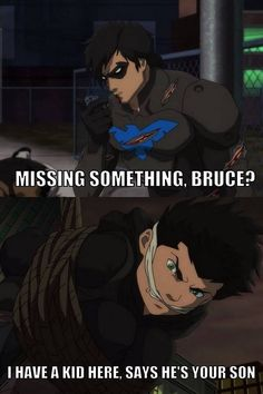 Son of Batman movie. I loved it. So funny! I love Richard and Damian. #Batman #Damian #Robin #Nightwing