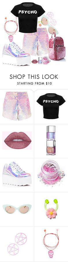 """""""... I can change for you..."""" by chavelaprincess ❤ liked on Polyvore featuring Manish Arora, Y.R.U., In Your Dreams, Crap, Love and Madness, Sugar Thrillz, Pink and glitter"""