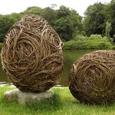 WILLOW EGGS first made by Carter on the grounds of The National Trusts Lyme Park and then exhibited at RHS Chelsea Flower Show.