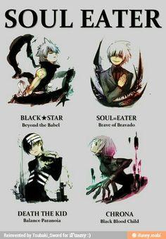 Soul Eater Boys/Girls.........whatever gender Chrona is.