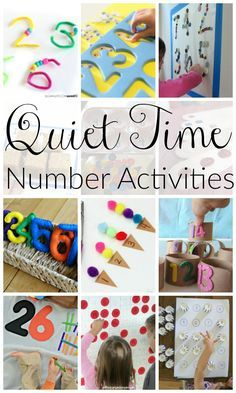 These are great quiet time activities for preschoolers learning numbers.