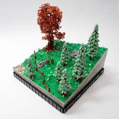 see note Ship! LEGO Fall custom forest tree with multicolored leaves FREE U.S