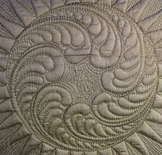 Cindy Needham - amazing FMQ. Another class sample detail...