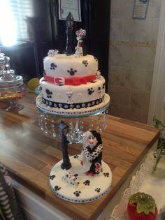 101 dalmatain cake and cruelly de vil