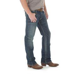 Wrangler Men's Retro Slim Fit Bootcut Jeans (Size: 33 x 34) Blue