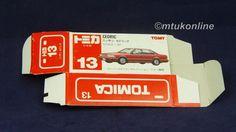 TOMICA 013F NISSAN CEDRIC Y31 | 1/62 | ORIGINAL BOX ONLY | 1988 JAPAN