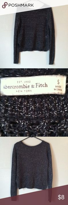 Abercrombie & Fitch sweater top Small •Excellent used condition •Worn a handful of times •Color:Gray (with silver detailing) •Brand: Abercrombie & Fitch •Size:Small •NO TRADES Abercrombie & Fitch Sweaters