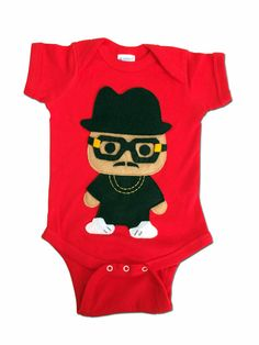 708d8c76c82 Infant Bodysuit Rad Rapper - Tall Hat - Red Hip Hop Baby Bodysuit