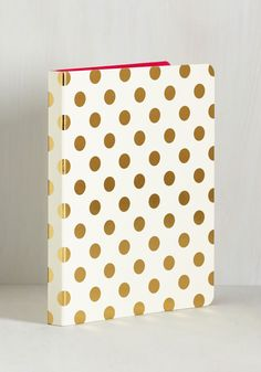 Thought in the Act Notebook. Recount your most action-packed endeavors among the lined pages of this dotted journal from kate spade new york! #white #modcloth