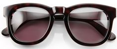 Strong and striking, these stand out shades will lend some structure to your face and pull any outfit together, with their warm tortoiseshell hue and rounded yet bold lines. The beauty of these classic-with-a-twist shades is that they can be easily paired with anything you wear, from a smart trouser suit to casual distressed denim. The dressy detail makes them a great choice for a wedding or other formal gathering.