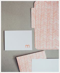 #free #download for #herringbone patterned #envelopes and #cards