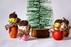 Pigs & Roses. DIY. Tutorial. Christmas ornament. Adorno de navidad. Acorn. Bellota.