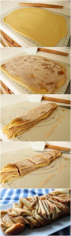 Cinnamon Sugar Pull-Apart Bread, super simple, going to make for breakfast! :)