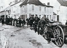 British transport during the advance to the Marne River