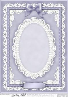 A4 Pearls Lace and Ribbon Plain Card Base on Craftsuprint designed by Carol Clarke - A beautiful A4 Plain Card Base with a pretty Pearl and Lace Oval Doily, Lace border and Corners, ribbon, a Matching Bow and greetings sentiment plate. This card base is approx A4 in size but can easily be resized to suit your project requirements.This card front will mix match and coordinate with all my Pretty Rose downloads too.This design is great for female birthday cards but is also suitable for lots of…