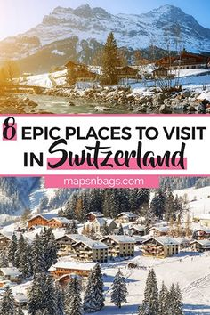 8 Magical Places to Visit in Switzerland in Winter - Visiting Switzerland in winter? Then you can't afford to miss these magical cities and towns across the country where you can celebrate a unique Christmas! Best Places In Switzerland, Switzerland In Winter, Visit Switzerland, Europe Travel Guide, Europe Destinations, Most Romantic Places, European Travel, Romantic Travel, Travel Inspiration