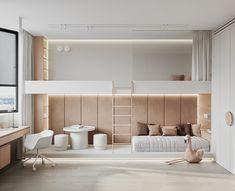 Home Room Design, Kids Room Design, Teen Room Designs, White Interior Design, Home Decor Kitchen, House Rooms, Bedroom Decor, Furniture, Style