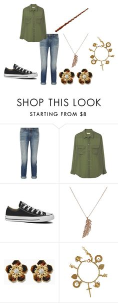 """Untitled #19"" by nerdyturtlex ❤ liked on Polyvore featuring J Brand, Equipment, Converse and STONE"