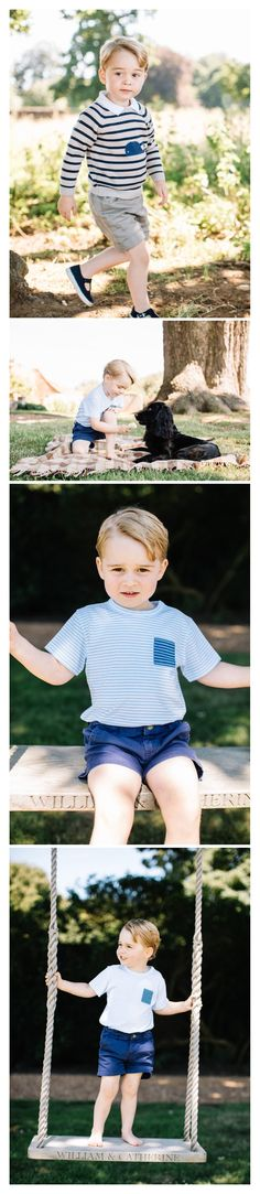 New Photos released by Kensington Palace to celebrate Prince George's 3rd…