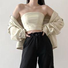 Korean Girl Fashion, Korean Fashion Trends, Korean Street Fashion, Ulzzang Fashion, Cute Fashion, Asian Fashion, Look Fashion, 70s Fashion, Spring Fashion