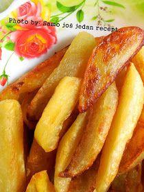 Sastojci 1 kg krumpira 2 l vode sol 50 ml ulja Priprema Krumpir ogulite, operite i narežite po dužini na osmine. S...