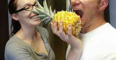 He Had Some Leftover Pineapple... What He Did With It Was Awesome.