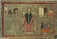 Frontal d'altar de Gia. Segona meitat del segle XIII. Tremp sobre fusta, 100 x 146 cm. Barcelona: Mnac.