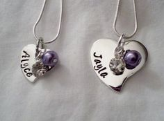 Matching Big Sister Little Sister Hand Stamped Jewelry by TempleStamping
