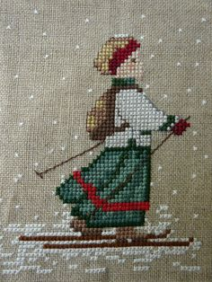 counted cross stitch how to Xmas Cross Stitch, Cross Stitch Borders, Cross Stitch Kits, Cross Stitch Designs, Cross Stitching, Cross Stitch Embroidery, Embroidery Patterns, Hand Embroidery, Cross Stitch Patterns