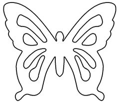 borboleta de papel molde