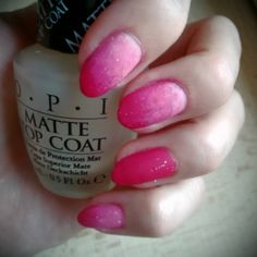 Pink ombre matte nails nailart almond nails