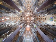 Photo: 1882-1926, Barcelona, Barcelona Province, Spain --- Church of the Sagrada Familia interior in Barcelona --- Image by © Jose Fuste Raga/Corbis