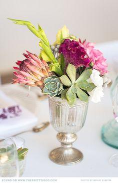 Leo & Andrea's Intimate Celebration Protea flower table decoration Flower Table Decorations, Table Flowers, Wedding Decorations, Floral Bouquets, Wedding Bouquets, Wedding Flowers, Wedding Bells, Wedding Stuff, Wedding Colors