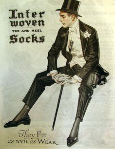 White tie, around 1920 by J C Leyendecker (German/American Vintage Advertisements, Vintage Ads, Vintage Posters, American Illustration, Illustration Art, Vintage Illustrations, Art Quotidien, Jc Leyendecker, Vintage Gentleman
