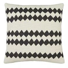 Buy Habitat Fisola Zig Zag 45 x 45cm Printed Cushion - Black | Cushions | Habitat Brown Cushions, Printed Cushions, Cushion Pads, Argos, Zig Zag, Armchairs, Sofas, Neutral, House Studio