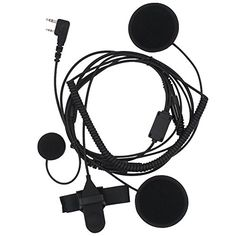 AOER Full Face Moto Motorcycle Bike Helmet Earpiece Headset Mic Microphone for Two Way Radio Walkie Talkie Kenwood Linton Wouxun Baofeng Puxing Hyt -- To view further for this item, visit the image link.