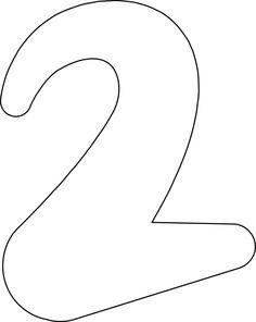 Printable Numbers 0 - 9: Printable Number '2'