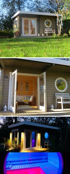 Sauna house The private sauna in the garden is a perfect place to relax. The sauna house Enns also offers a sauna relaxation room. Sauna Privé, Sauna House, Backyard Projects, Backyard Patio, Yard Design, House Design, Private Sauna, Terrariums Diy, Diy 2019