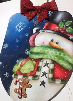 Christmas Signs, Christmas Decorations, Christmas Ornaments, Holiday Decor, Country Paintings, Christmas Paintings, Snowman, Santa, Lily