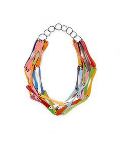 karakola: necklace made from icecrem sticks | naszyjnik z patyczków od lodów