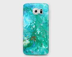 Green marbled/jade green Samsung phone case