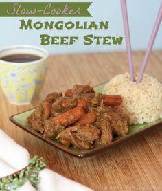 Slow-Cooker Mongolian Beef Stew - Cupcakes & Kale Chips. ☀CQ #crockpot #slowcooker http://www.pinterest.com/CoronaQueen/crockpot-corona/