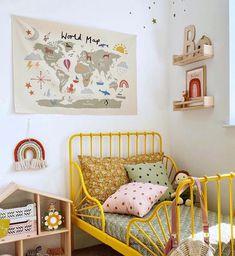 Ikea Toddler Bed, Ikea Kids Bed, Ikea Beds, Kids Wall Decor, Nursery Room Decor, Kids Bedroom, Baby Bedroom, Bedroom Sets, Toddler Girls