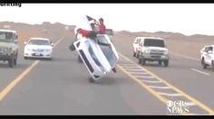 Amazing car stunts in saudi arabia