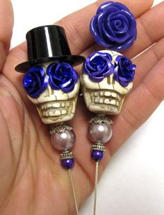 Day of the Dead Sugar Skull Cake Topper Gothic by sweetie2sweetie, $25.99